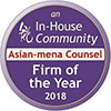 Asian Mena Counsel Firm of the year 2018