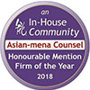 Asian-Mena Counsel Honourable Mention