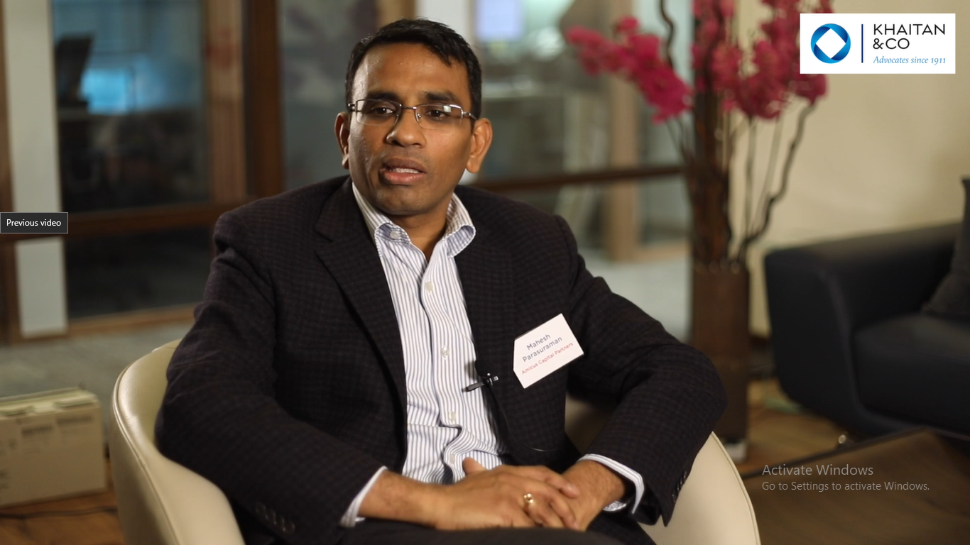 Mahesh Parasuraman of Amicus Capital Partners shares his views