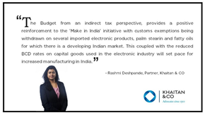 Rashmi Deshpande, Partner Khaitan & Co shares her views on budget2019