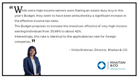 Vinita Krishnan, Director Khaitan & Co shares her views on the budget2019